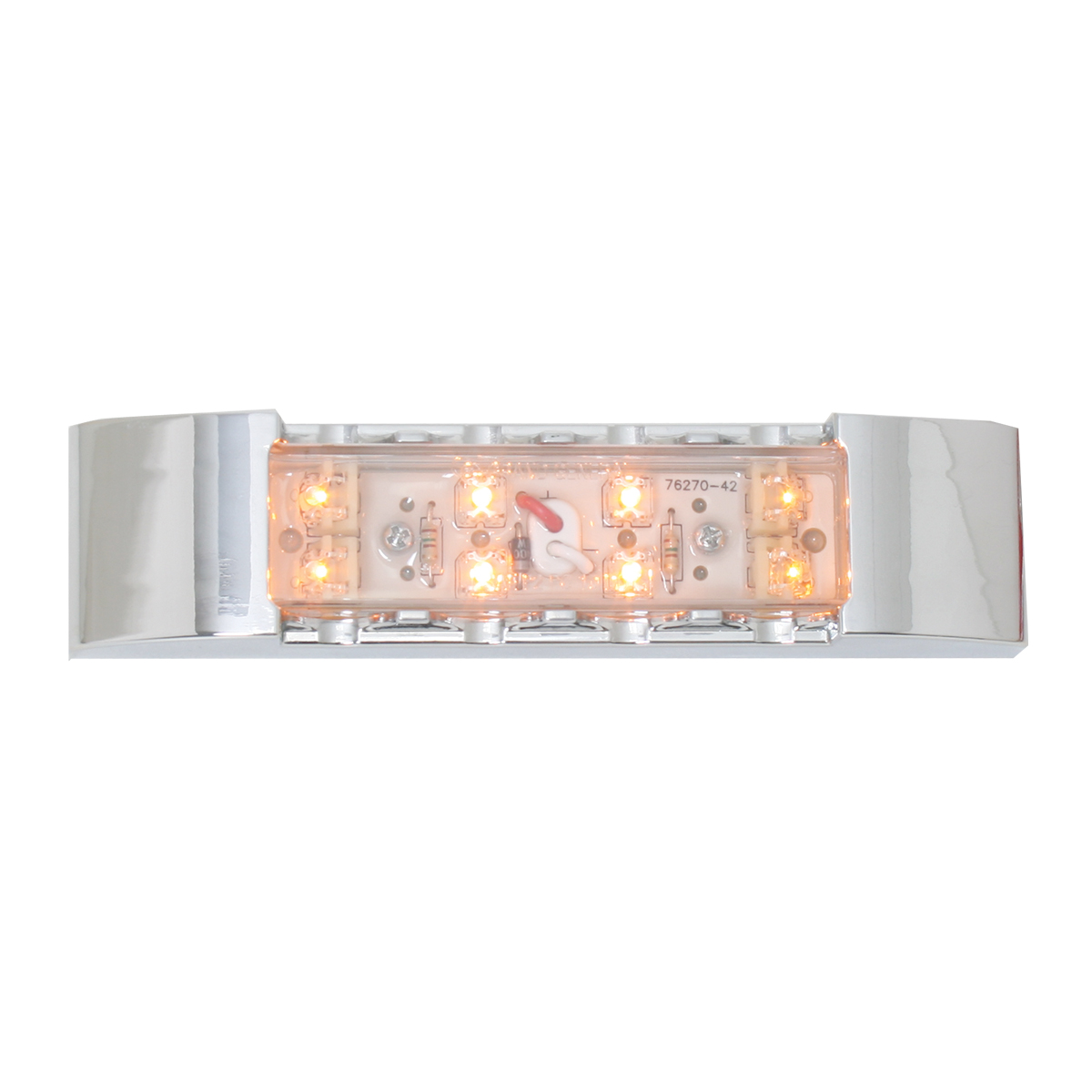 76181 Rectangular Wide Angle LED Light w/ Chrome Plastic Bezel