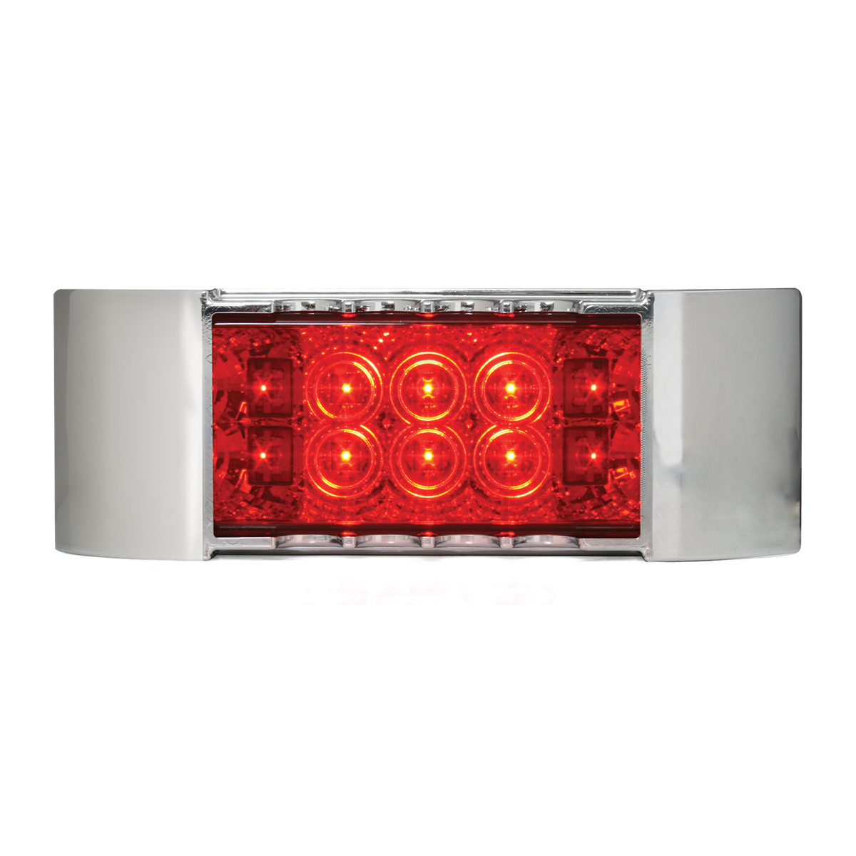 76216 Rectangular Wide Angle Spyder LED Marker Light w/ Chrome Plastic Bezel