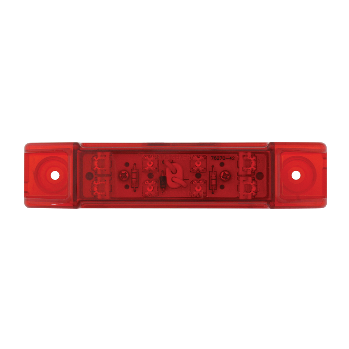 76262 Rectangular Wide Angle LED Light in Red/Red