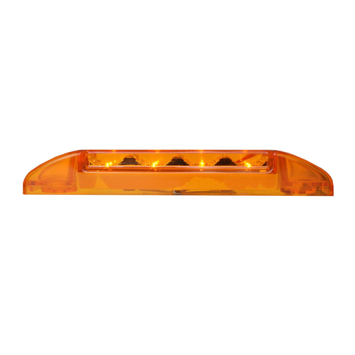 76270 Slim Rectangular Spyder LED Light in Amber/Amber