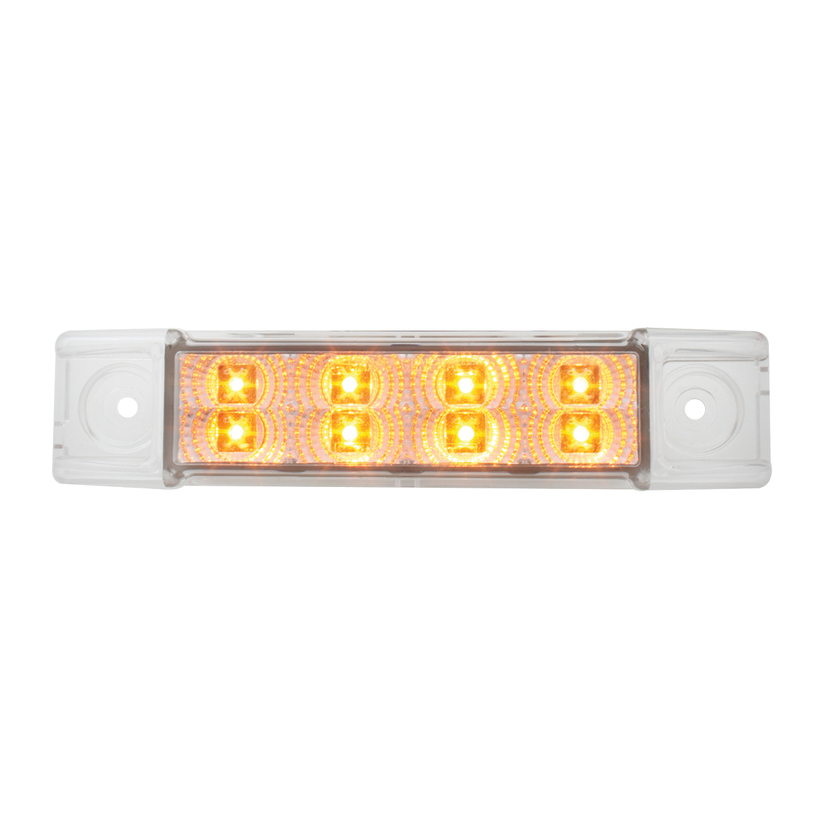 76271 Slim Rectangular Spyder LED Light in Amber/Clear