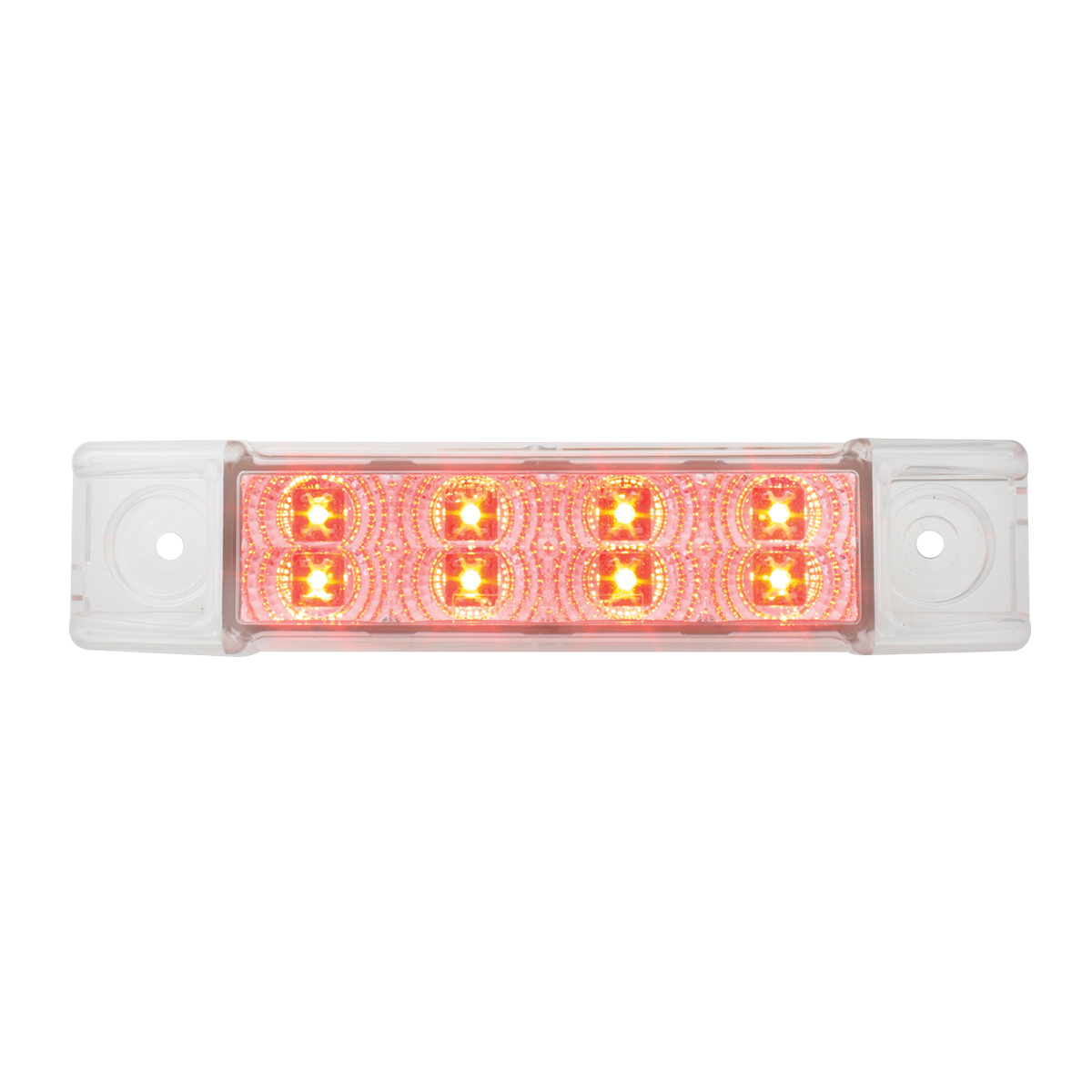 76273 Slim Rectangular Spyder LED Light in Red/Clear