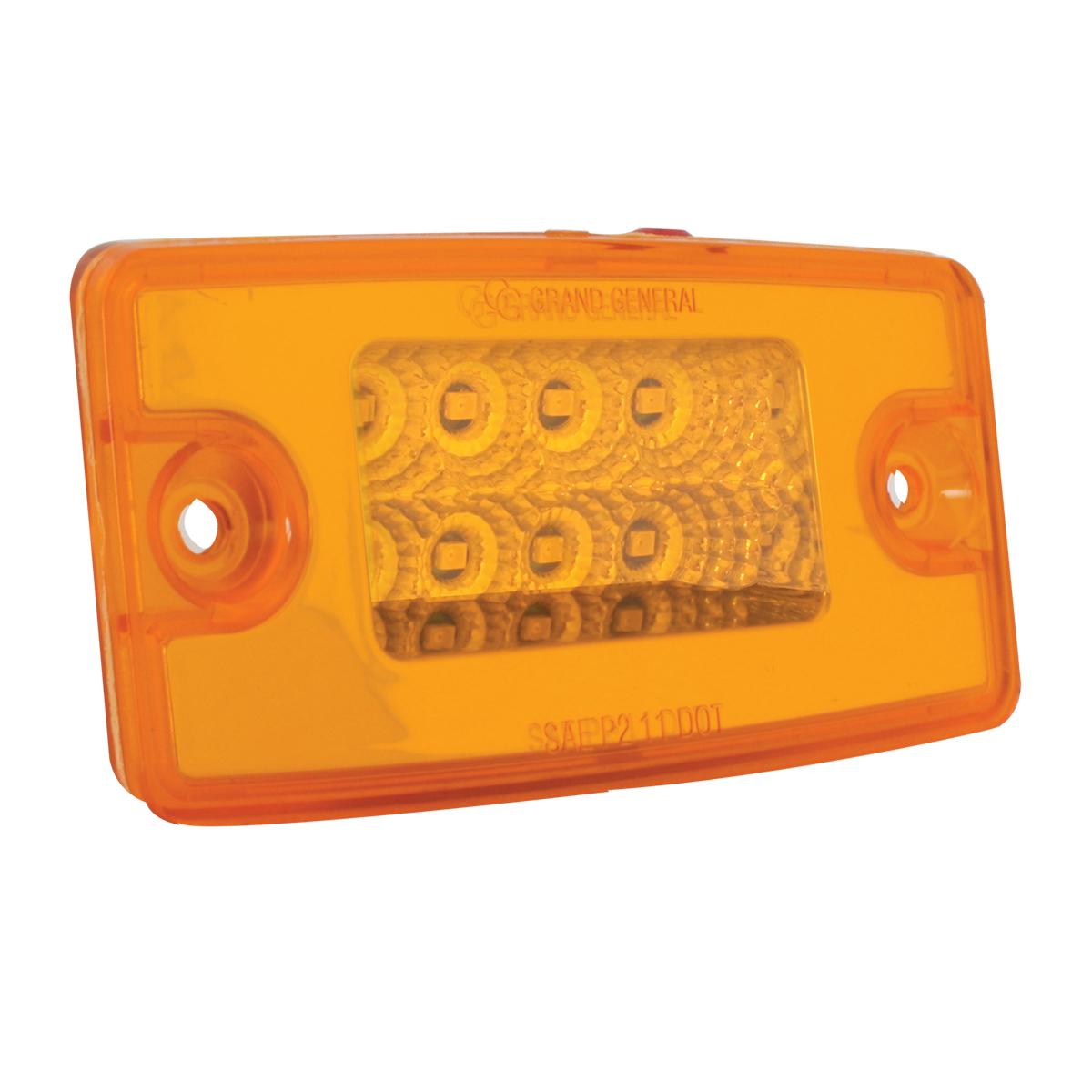 Red Low Profile Spyder LED Marker Clearance Light w// Chrome Bezel 7  LEDs