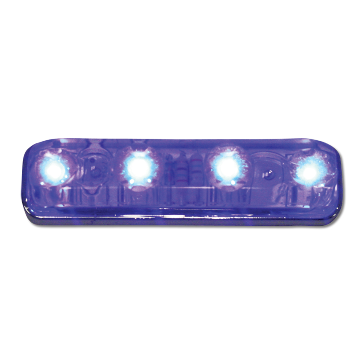 77146 Small Thin Lin Surface Mount LED Light in Blue/Clear