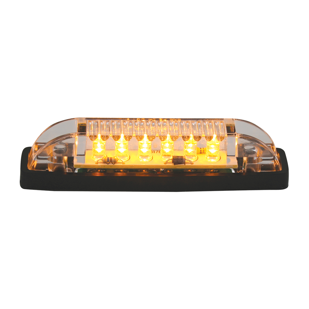 77651 Thin Lin Surface Mount LED in Amber/Clear