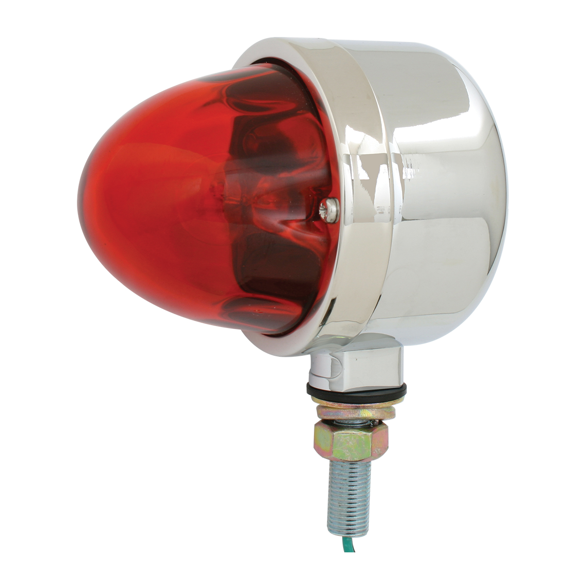 78110 Single Face Chrome Die Cast Auxiliary Light with Glass Lens