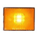 Rectangular Stud Mount LED Marker Light with Reflector Lens