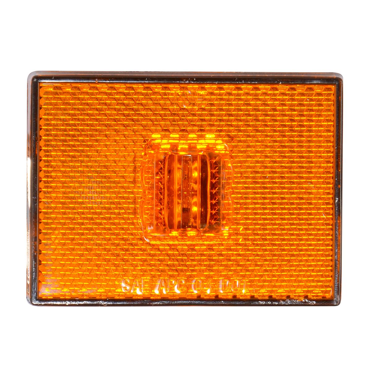 78380 Rectangular Stud Mount LED Marker Light with Reflector Lens