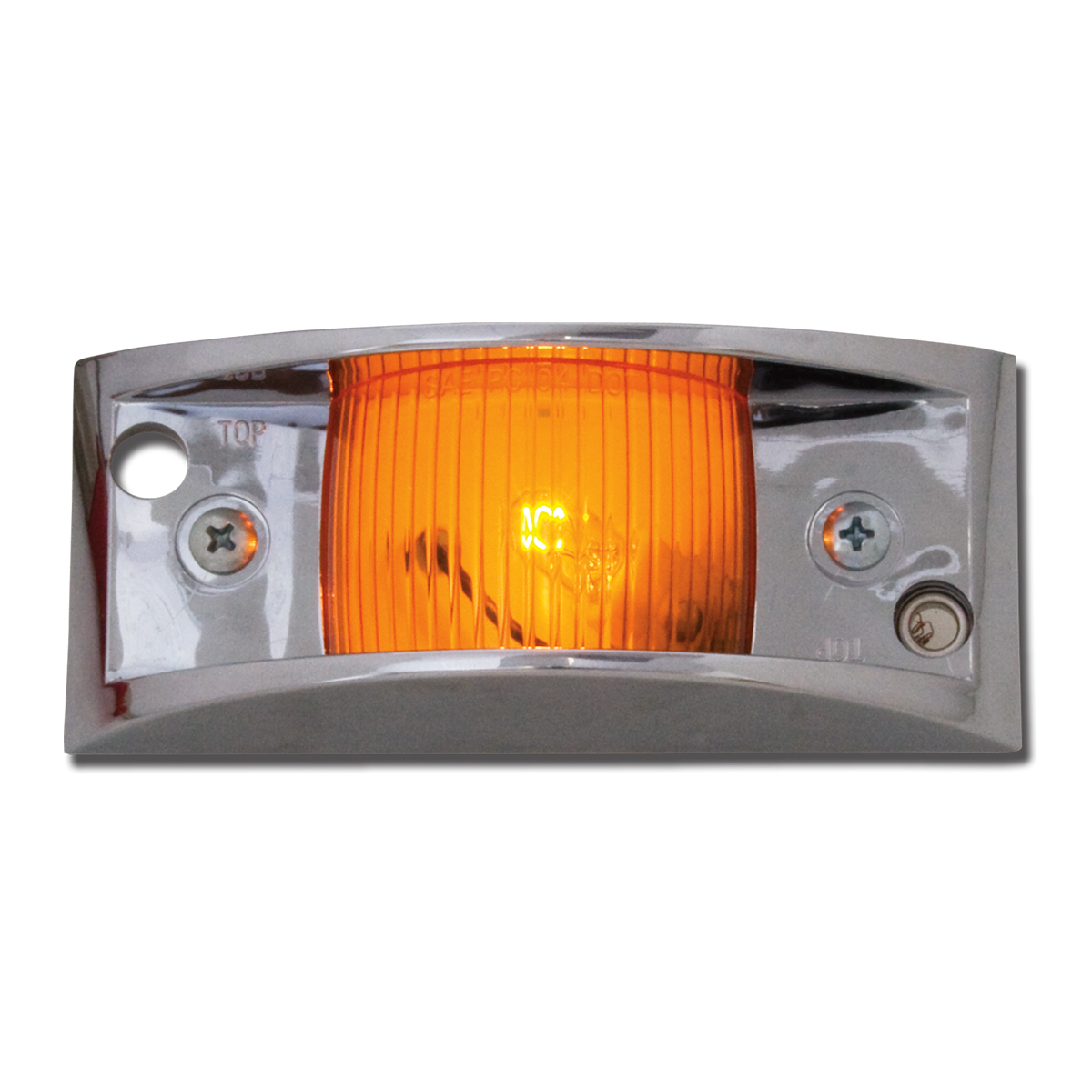 #80150 Amber Marker Light with Chrome Guard