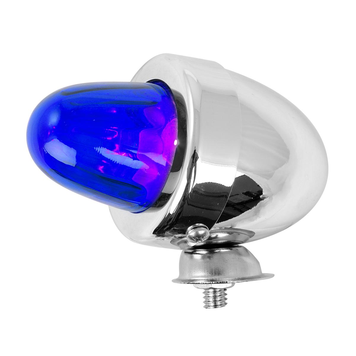 #80482 Bullet Shape Marker Light with Blue Glass Lens