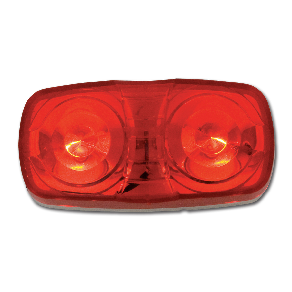 #82925 Tiger Eye Two-Bulb Red Light with White Plastic Base