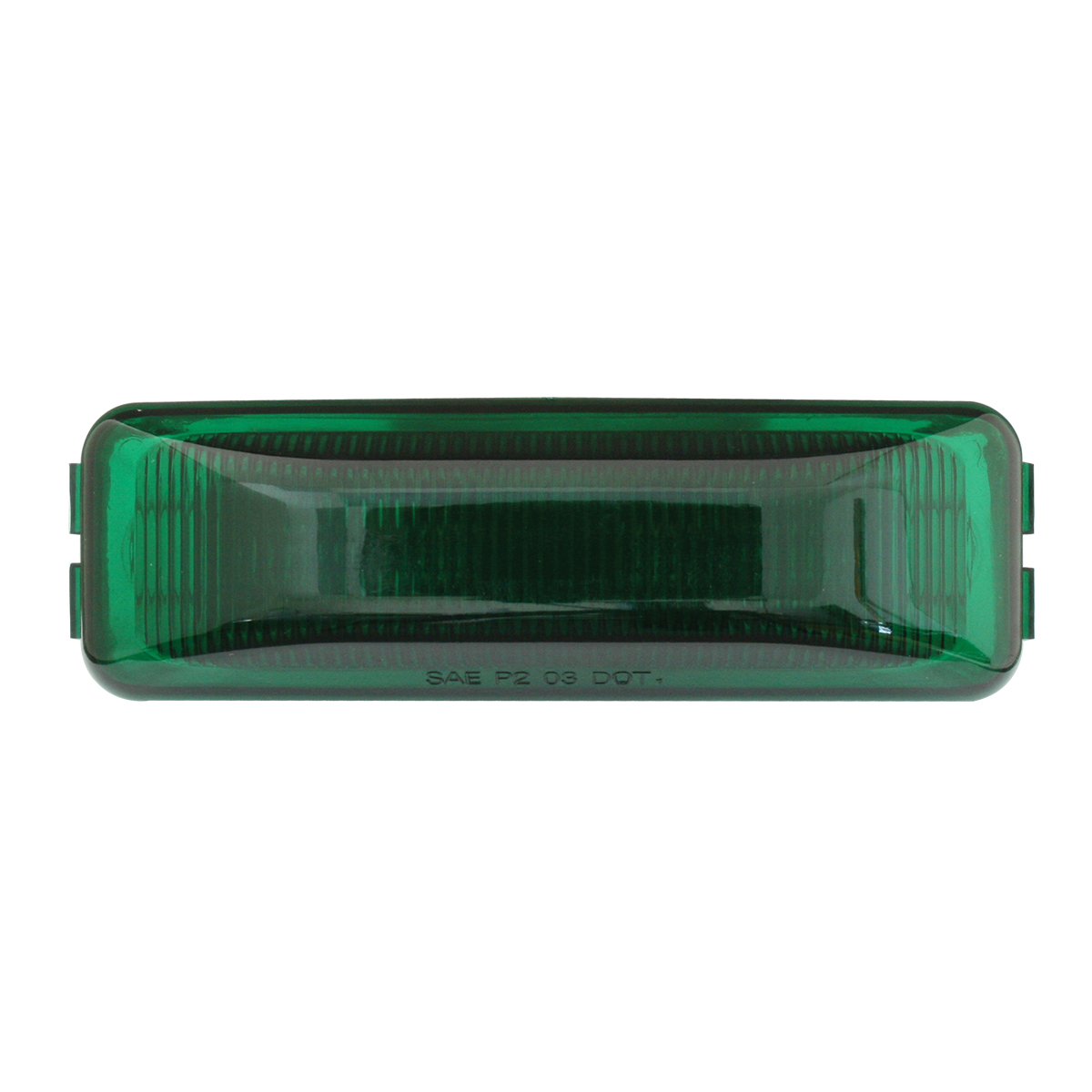 84444 Medium Rectangular LED Marker Light in Green/Green