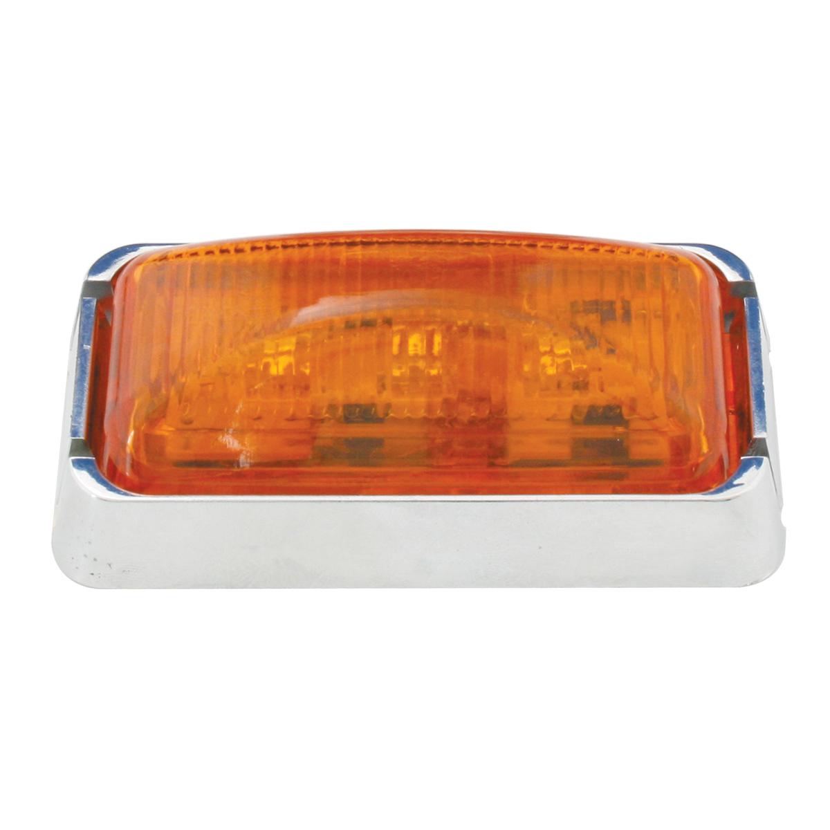 87630 Small Rectangular LED Marker Light with Chrome Bracket