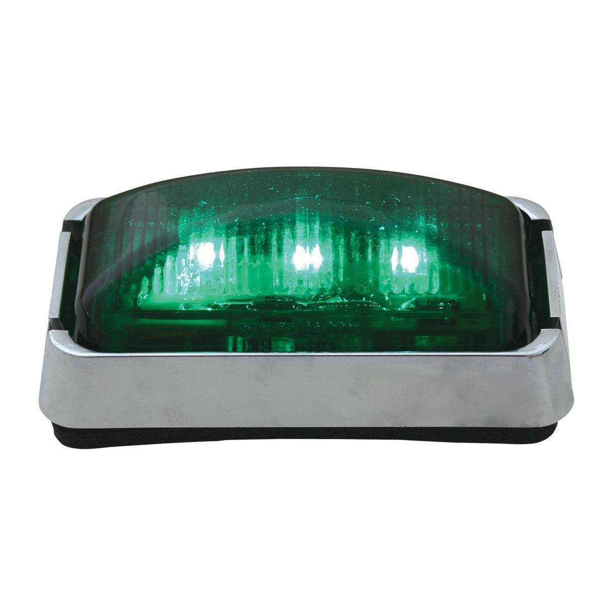 87638 Small Rectangular LED Marker Light with Chrome Bracket