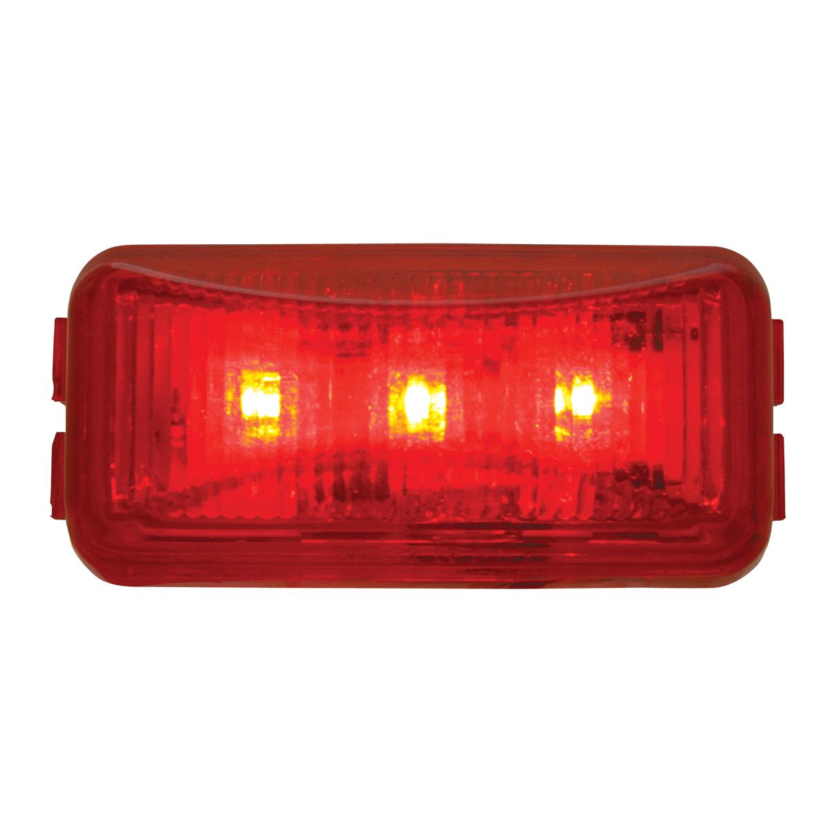 87645 Small Rectangular LED Marker Light in Red/Red