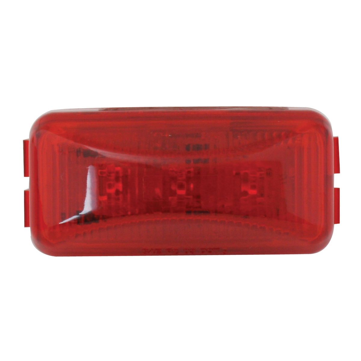 87645 Small Rectangular LED Marker Light in Red/Red