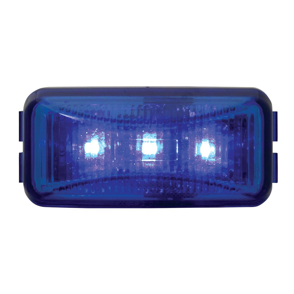 87646 Small Rectangular LED Marker Light in Blue/Blue