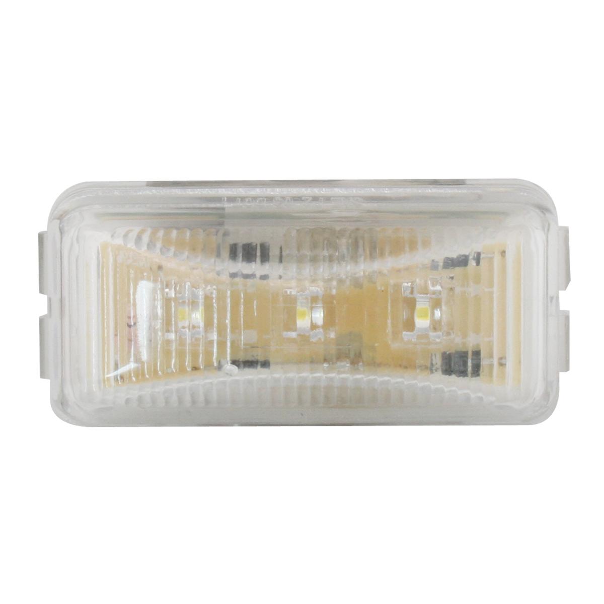 87647 Small Rectangular LED Marker Light in White/Clear
