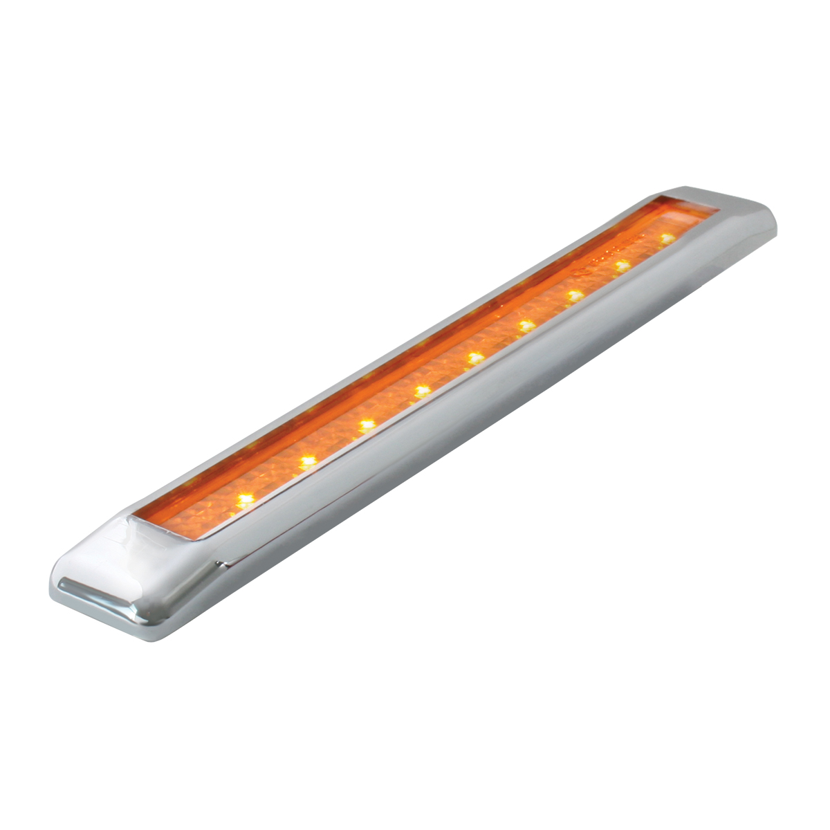 "76060 8.25"" Ultra Thin LED Marker Light Bar in Amber/Amber"