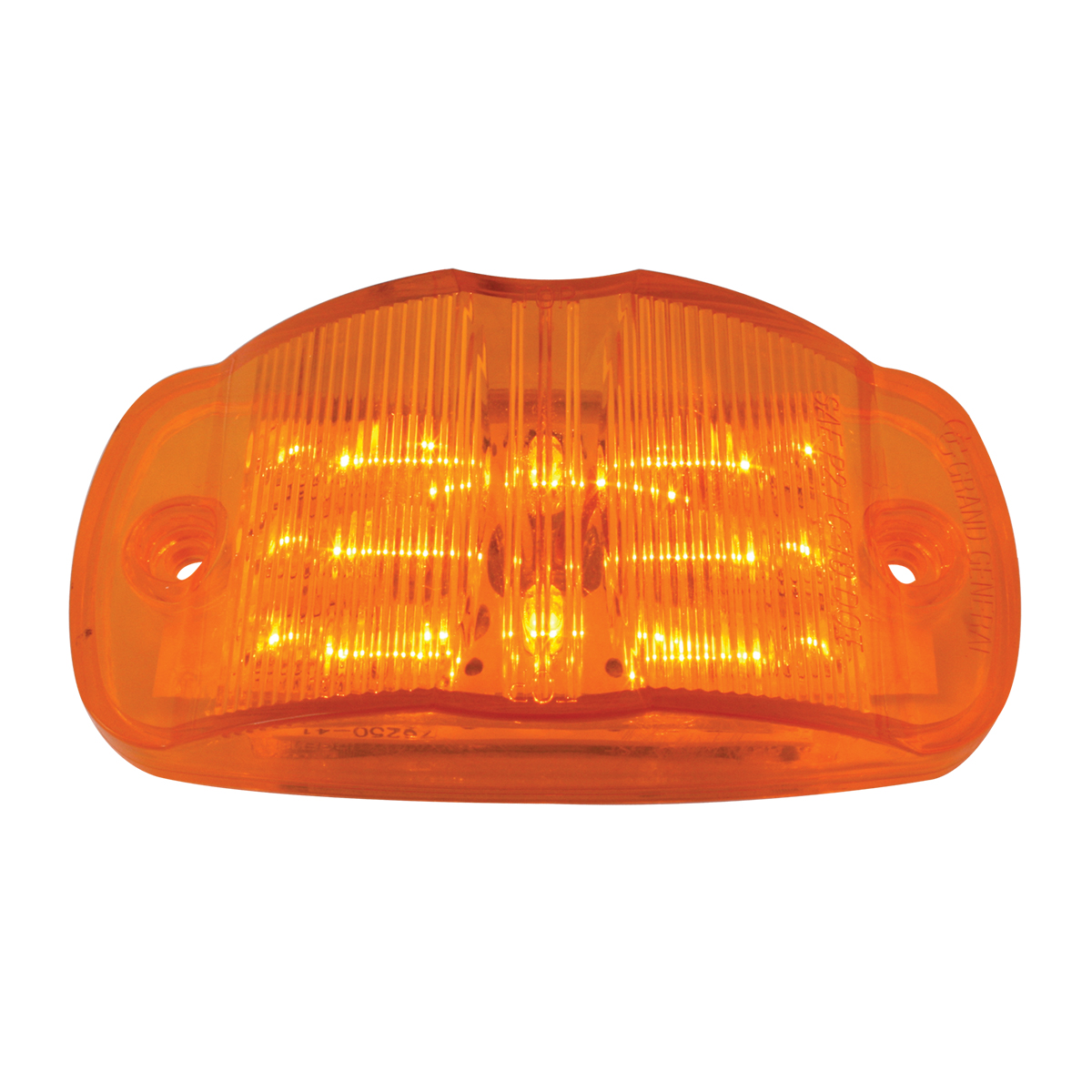 1 Pack Amber Spyder 11-LED, Amber Lens; with O Gasket G5000 GG Grand General 77568 Reflector