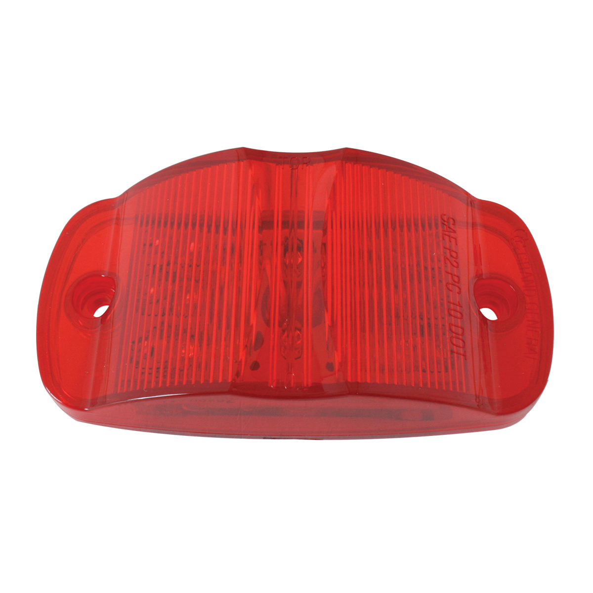 Rectangular Camel Back Wide Angle LED Marker Light in Red/Red