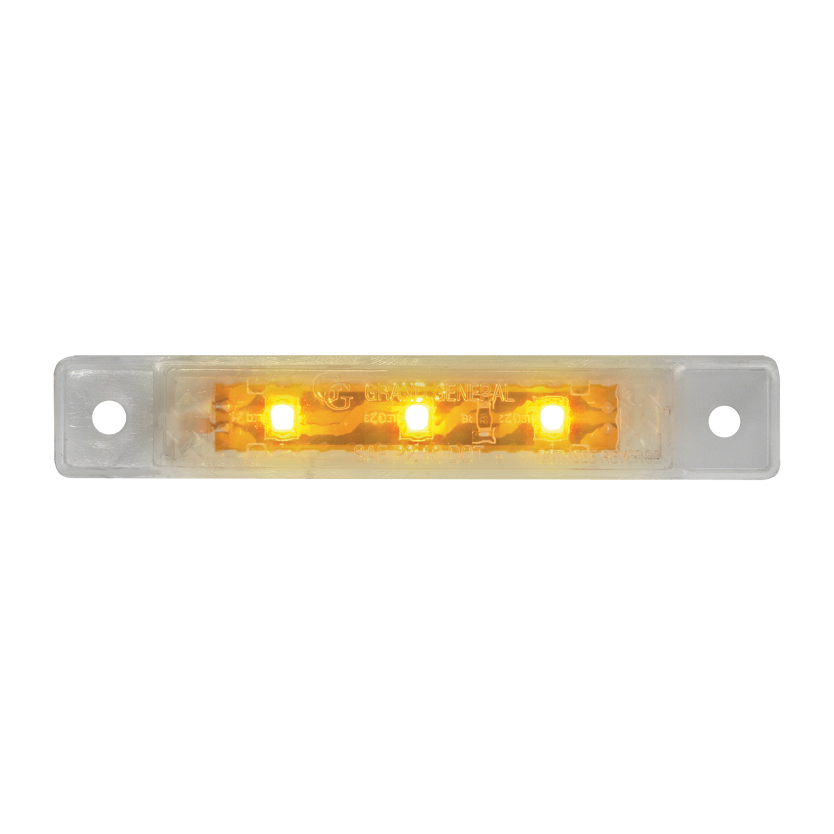 "76281 3.5"" Ultra Thin LED Marker Light in Clear Lens"