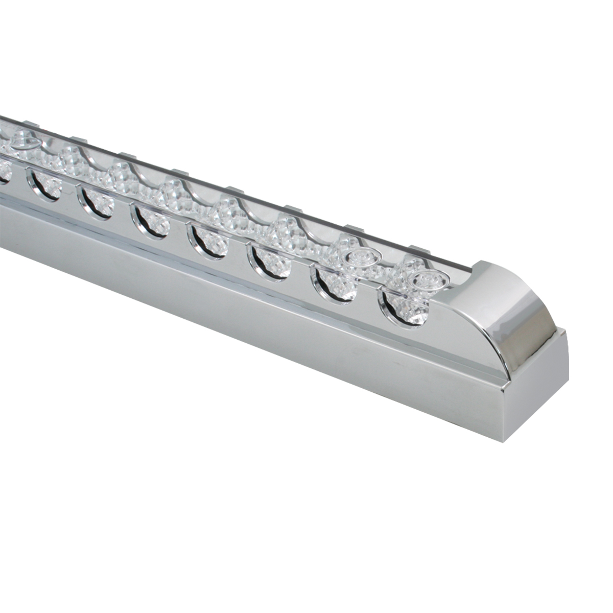 "20"" Spyder LED Light Bar in Clear Lens w/ Chrome Plastic Bezel"