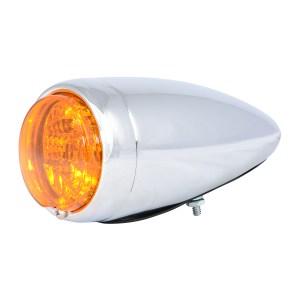 Chrome Steel Bullet Spyder LED Turn/Marker Light