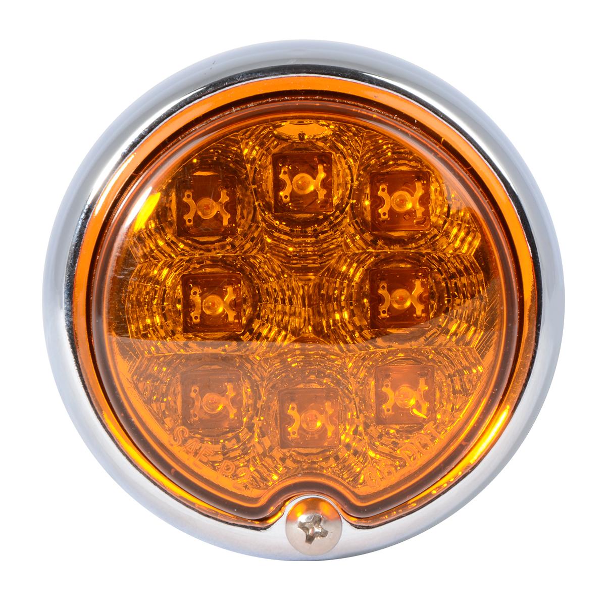 77210 Chrome Steel Bullet Spyder LED Turn/Marker Light