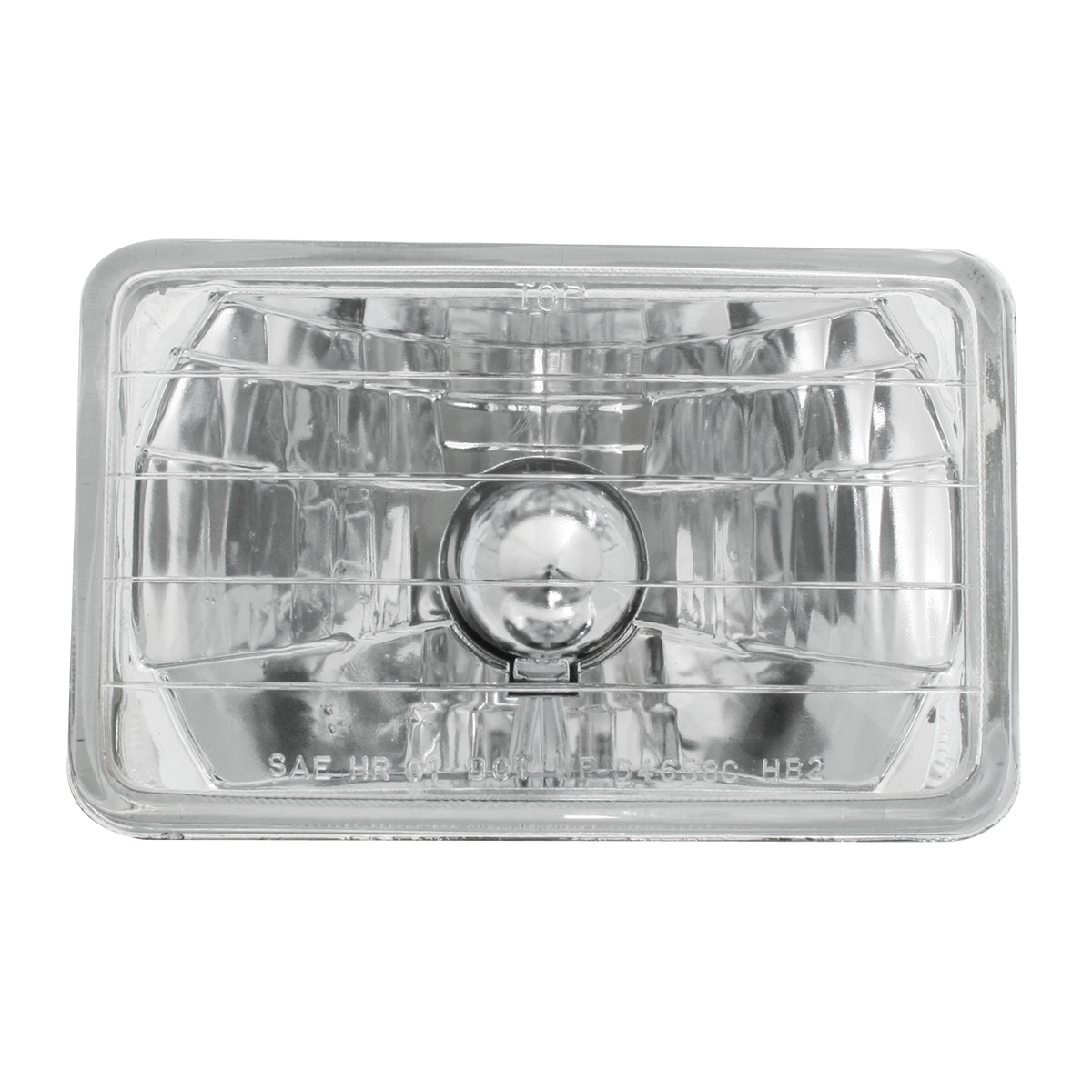 "#77400 (6.5"" x 4.17"") Rectangular Headlamp with #H4 Halogen Bulb"