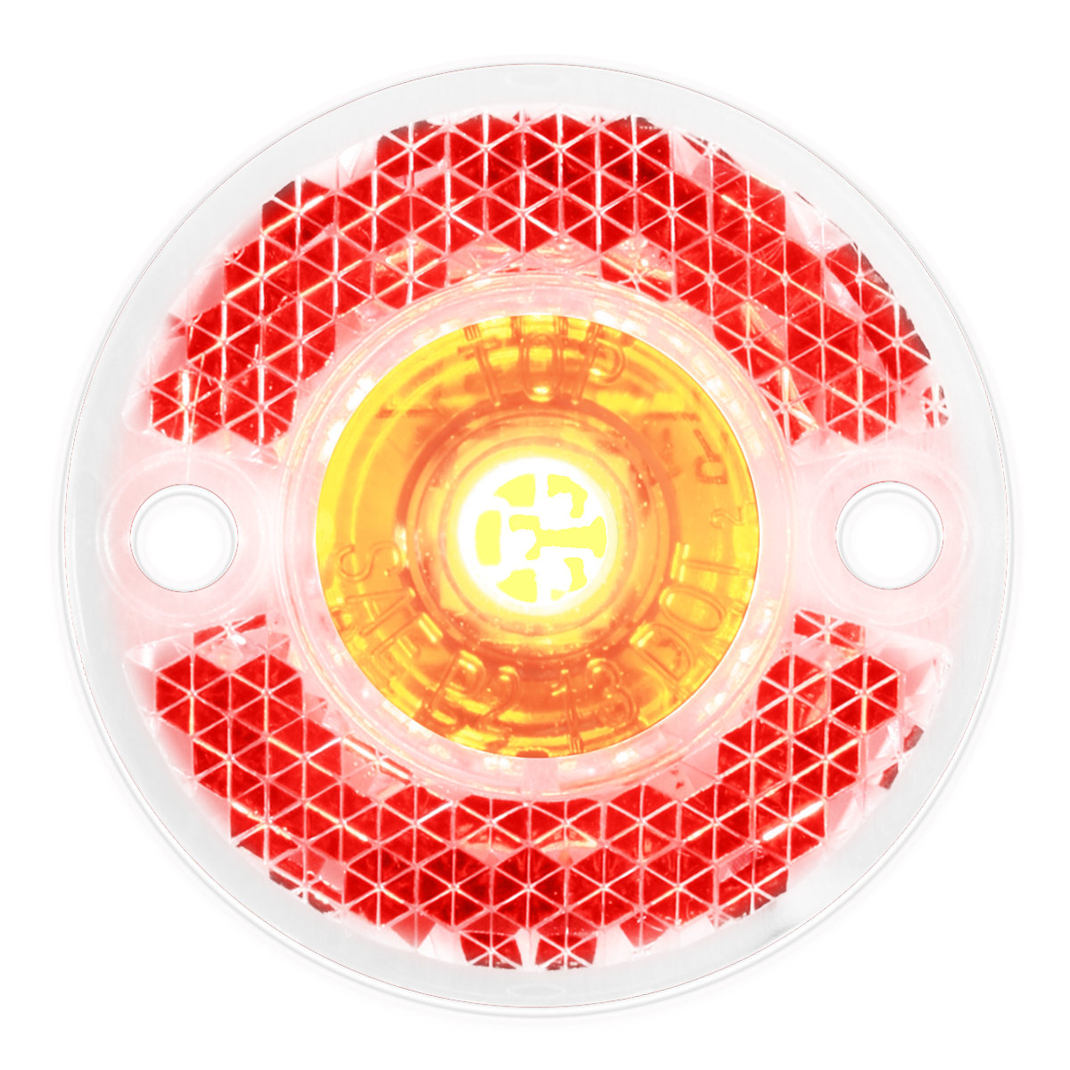 81783 Mini Surface Mount LED Light in Red/Clear