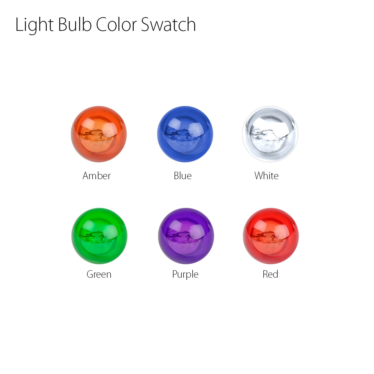 #1156/ #1157 Miniature Replacement Color Light Bulb Swatch
