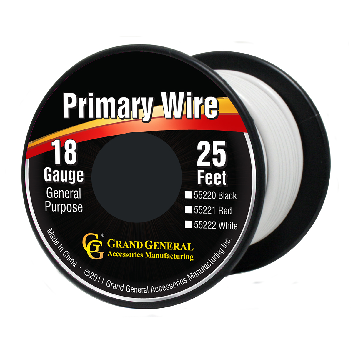 55222/55222SP Primary Wire in 18 Gauge, 25 Feet