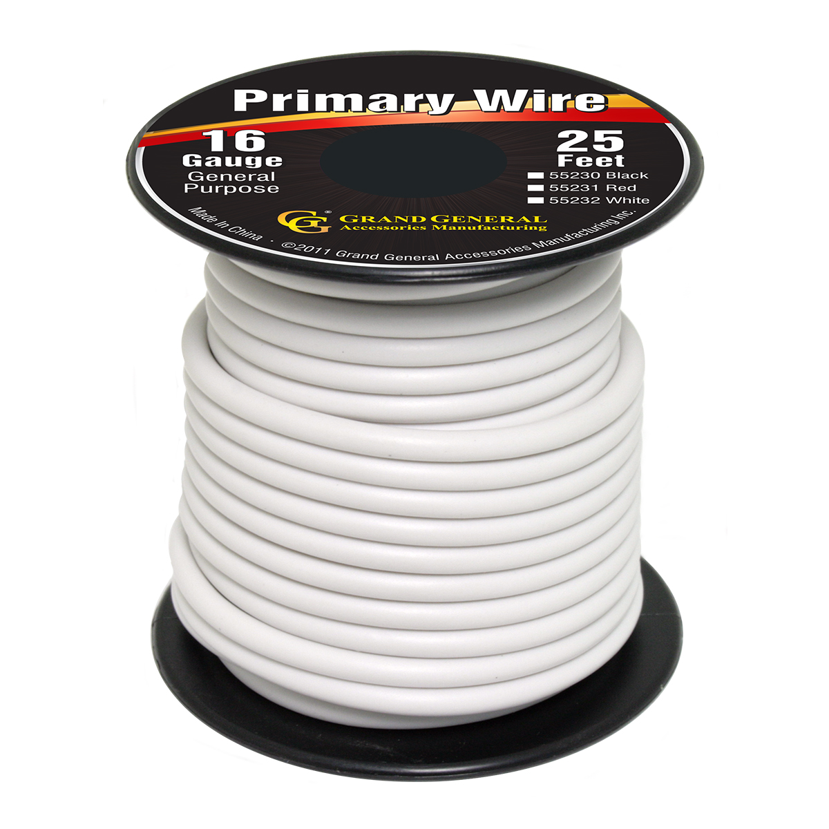 55232/55232SP Primary Wire in 16 Gauge, 25 Feet