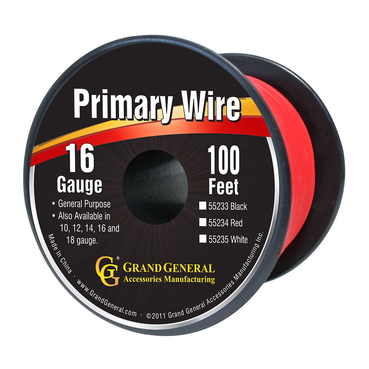 55234 Primary Wire in 16 Gauge, 100 Feet