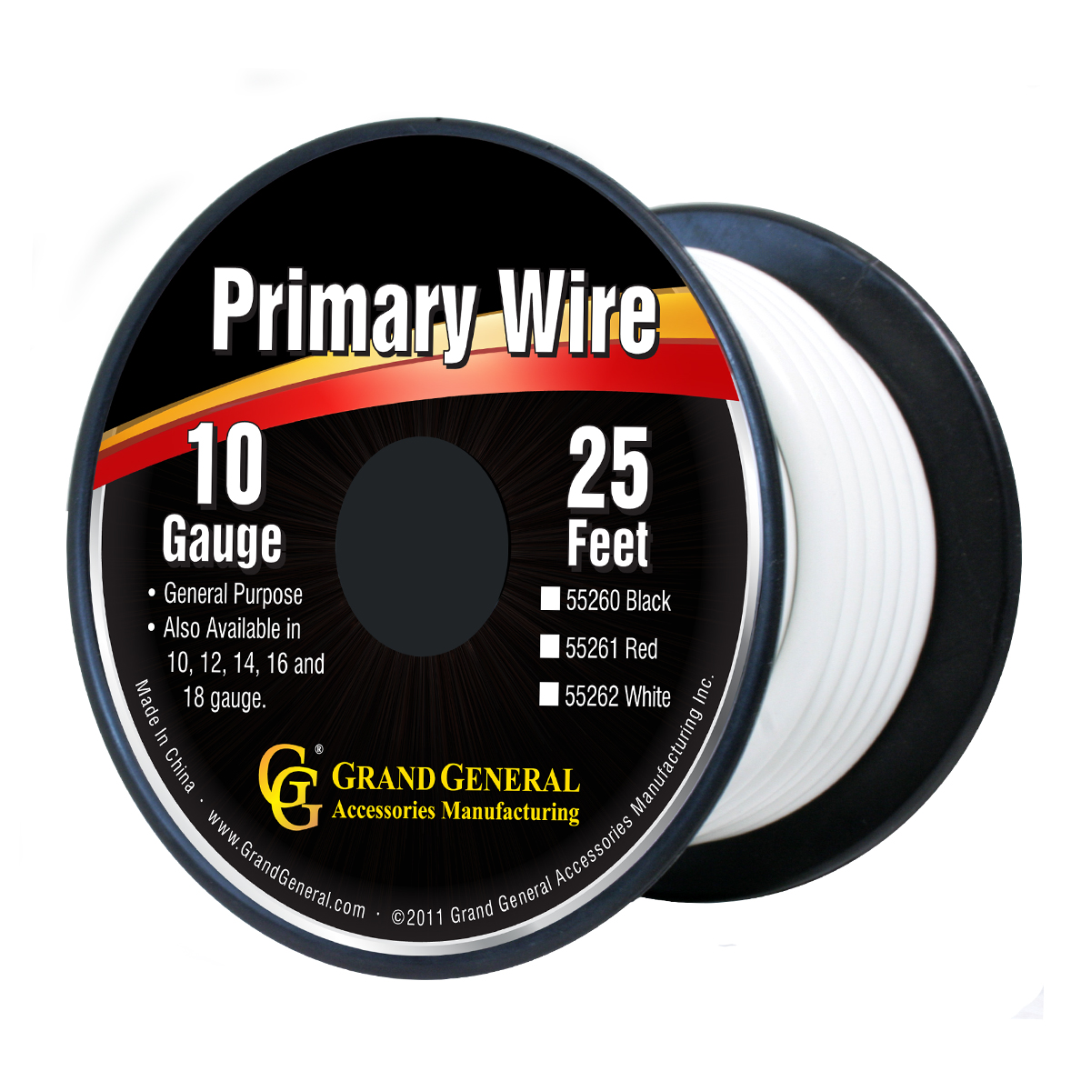 55262/55262SP Primary Wire in 10 Gauge, 25 Feet