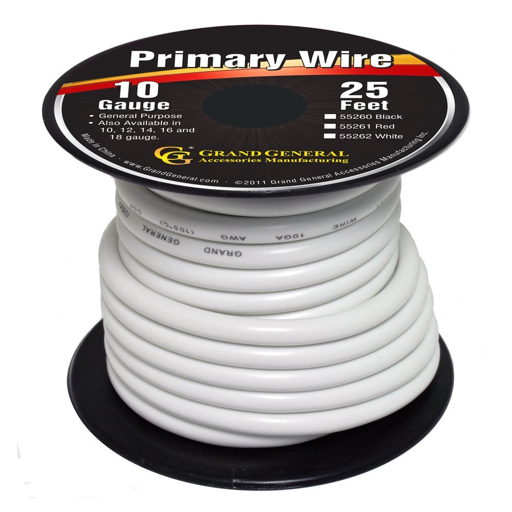 55262 Primary Wire in 10 Gauge, 25 Feet