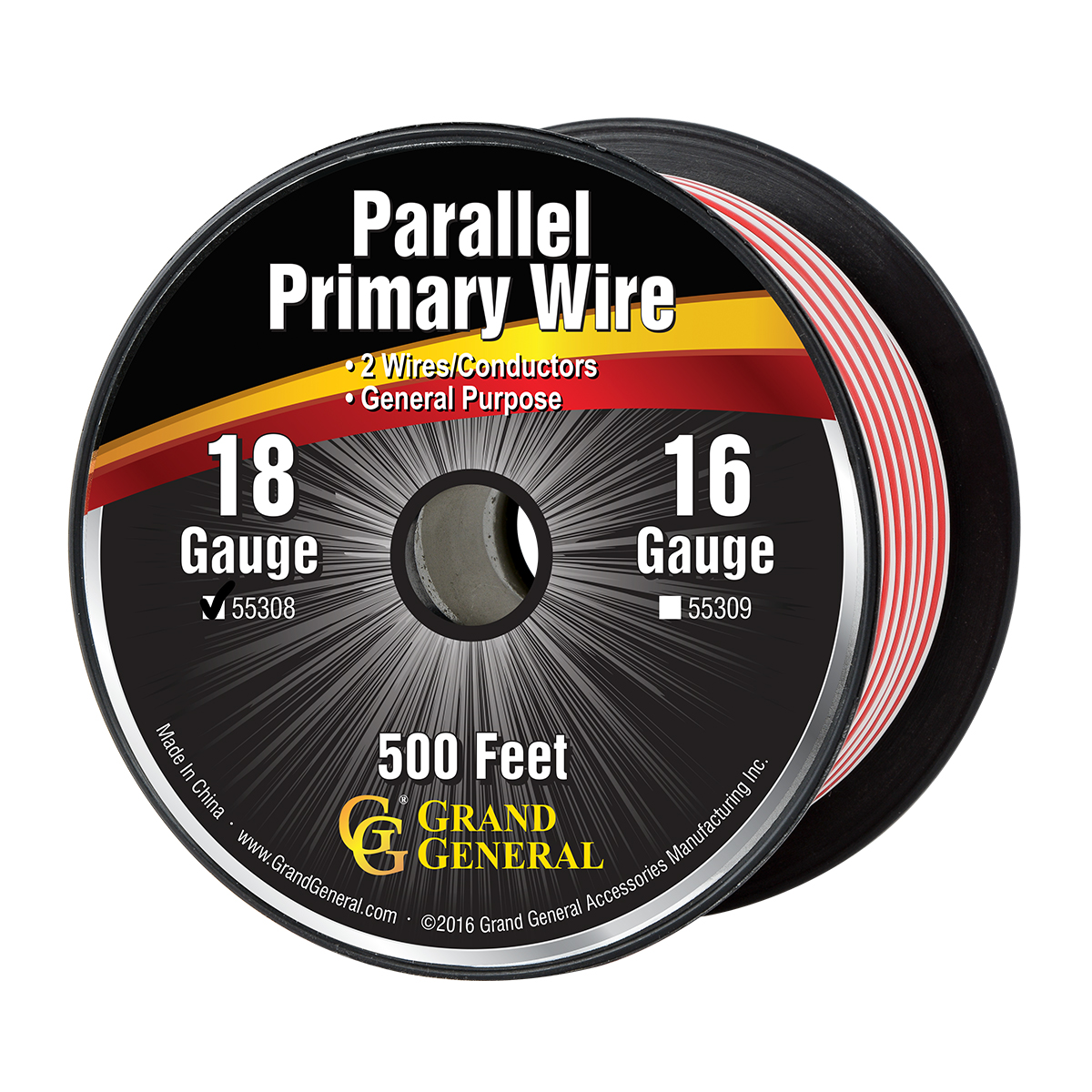 55308 18 GA Parallel Primary 2 Wire Roll
