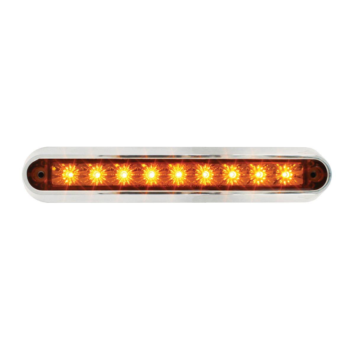 "76090 6.5"" Surface Mount LED Light Bar w/ Chrome Plastic Base"