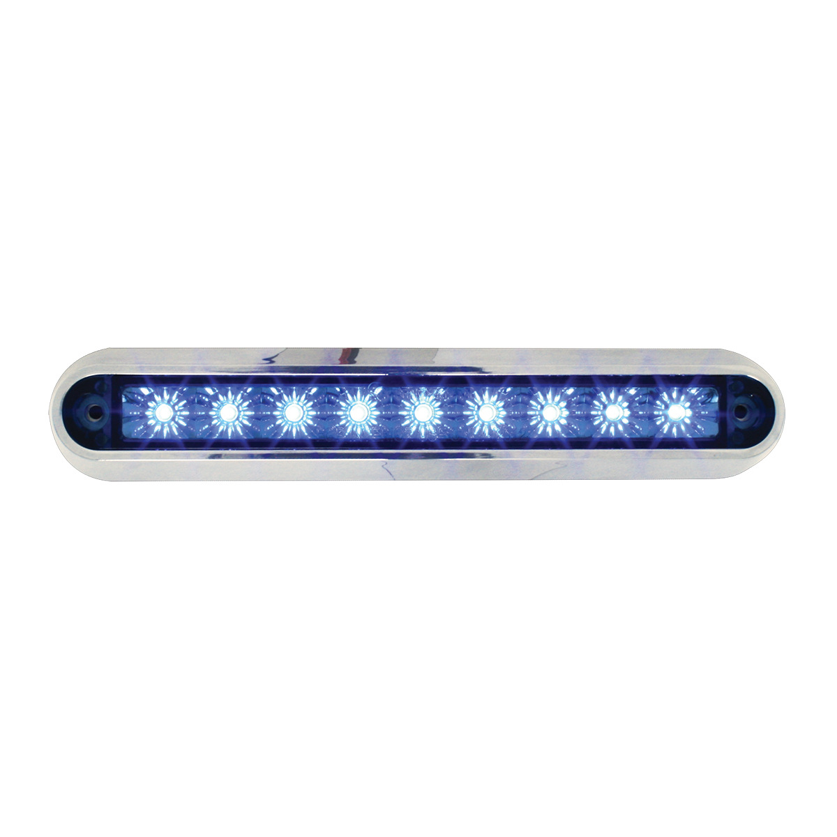 "76095 6.5"" Surface Mount LED Light Bar w/ Chrome Plastic Base"