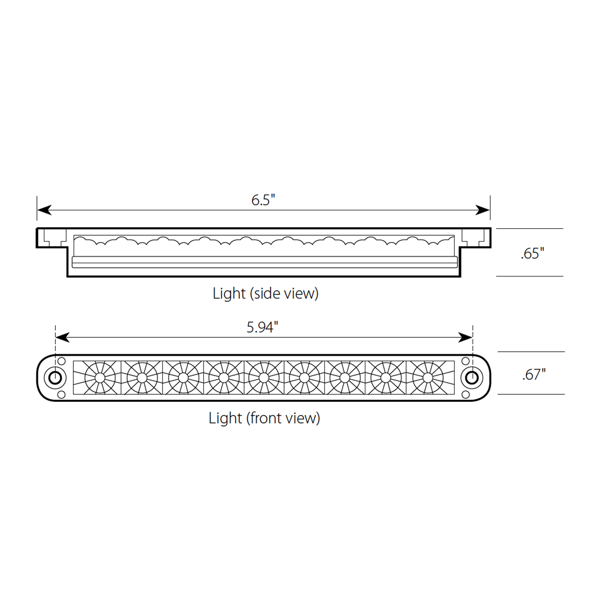 "6.5"" Dual Function LED Light Bar"