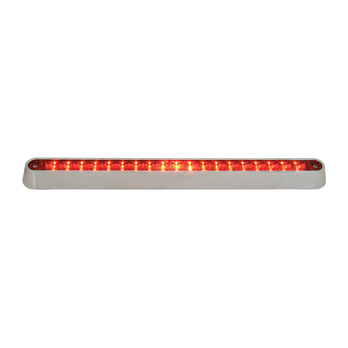 "76295 12"" Surface Mount Light Bar with Chrome Plastic Base"
