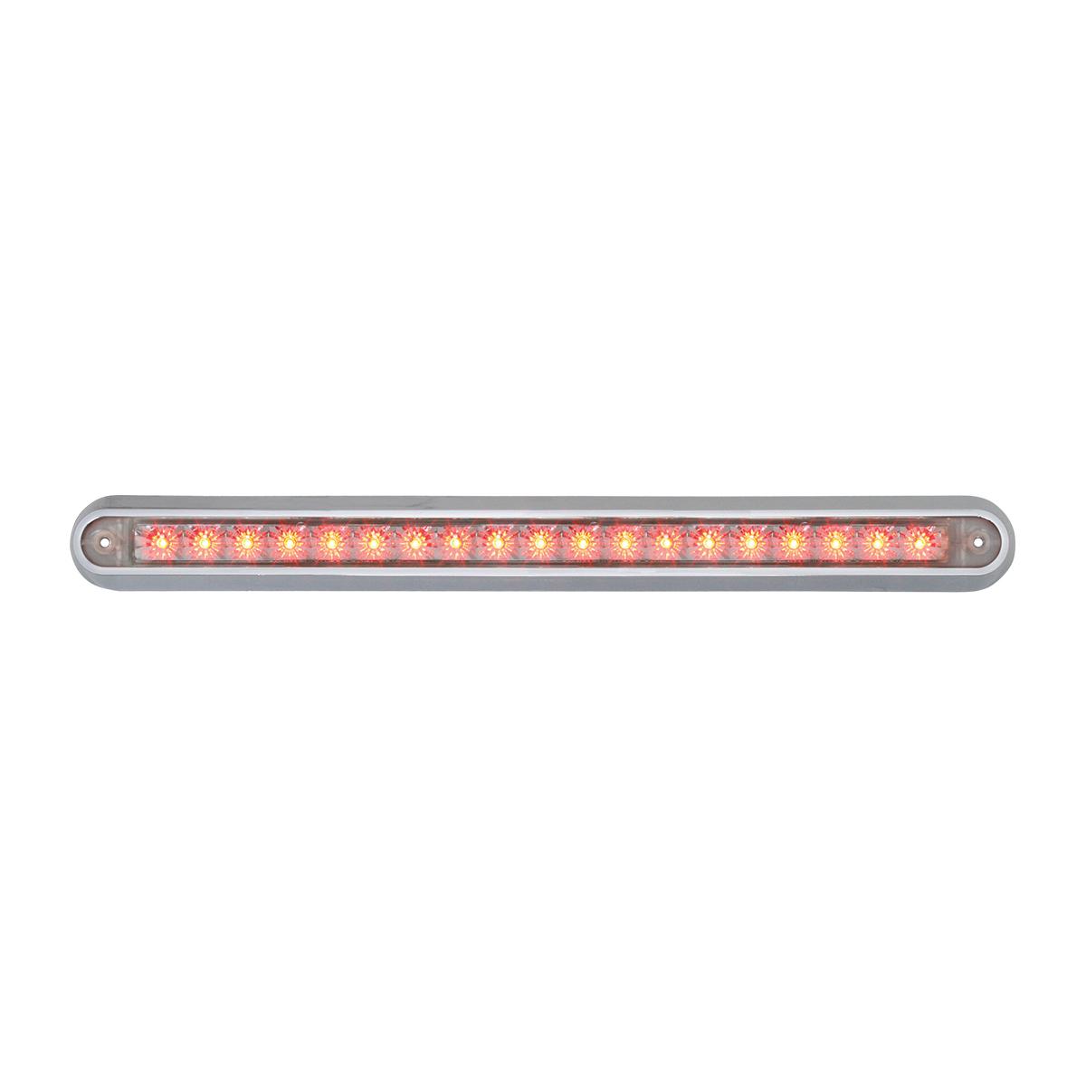 "76296 12"" Surface Mount Light Bar with Chrome Plastic Base"
