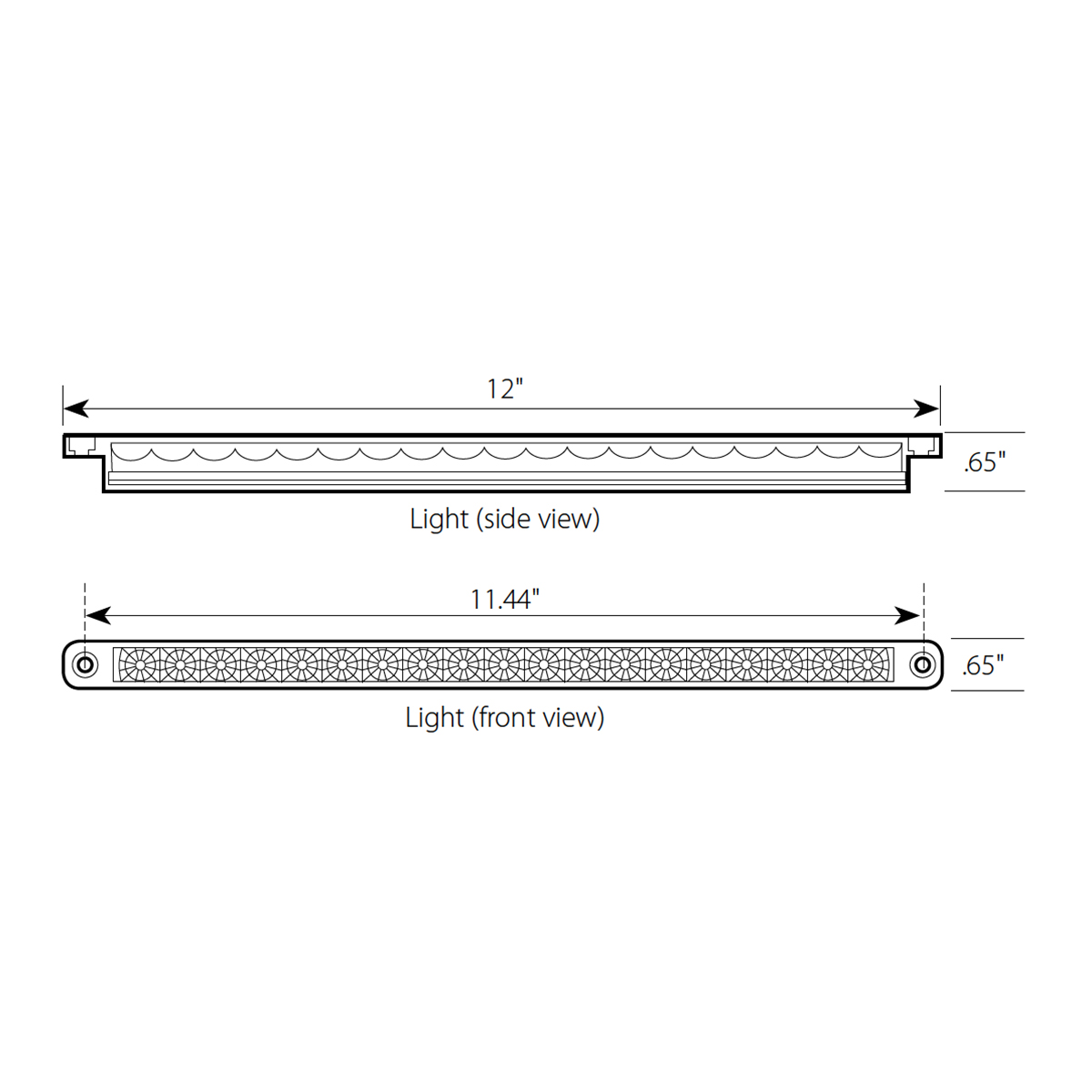 "12"" Dual Function LED Light Bar"