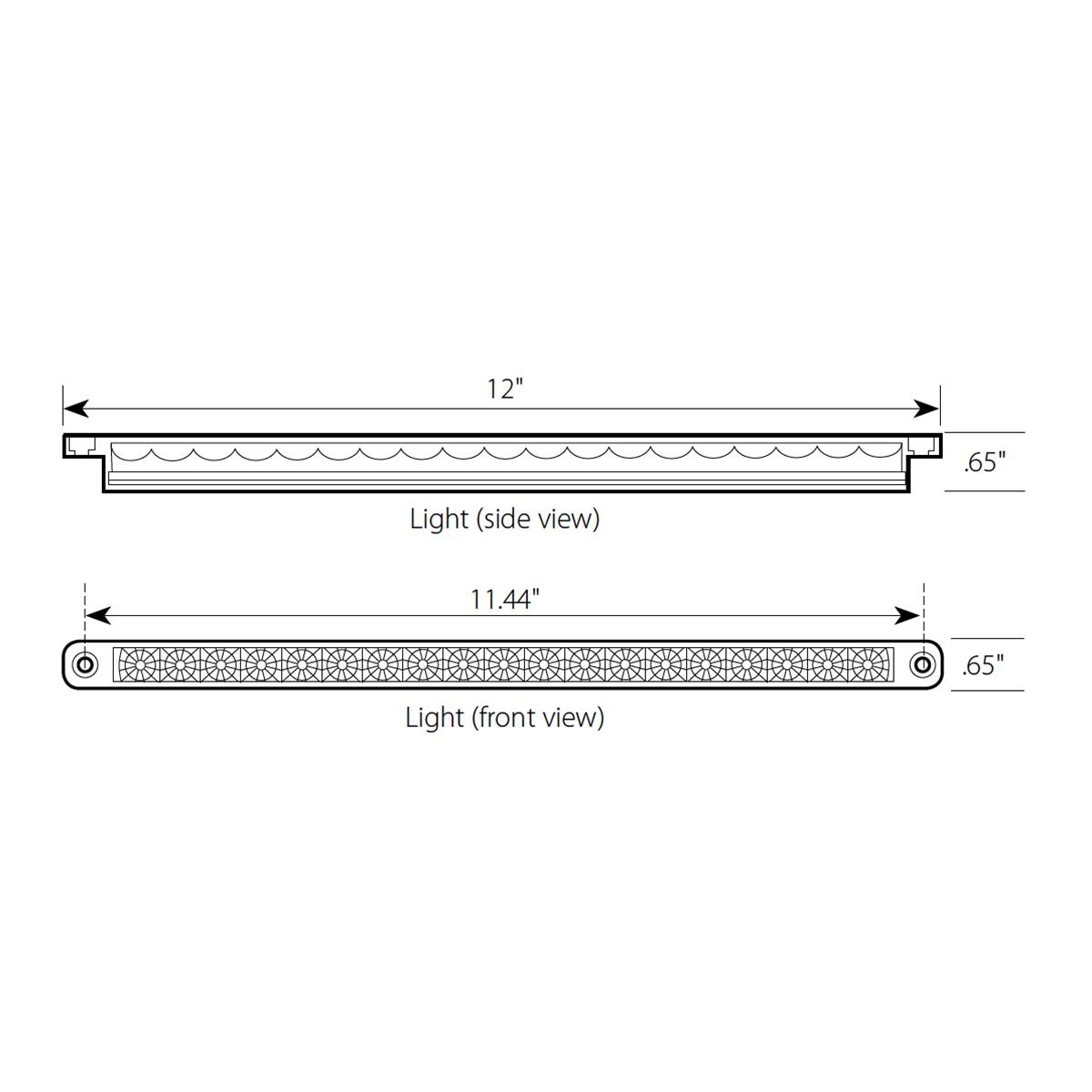 "12"" Dual Function LED Light Bar"