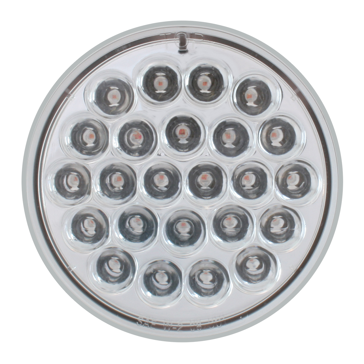 "4"" Round Synchronous/Alternating Pearl LED Strobe Light in Clear Lens"