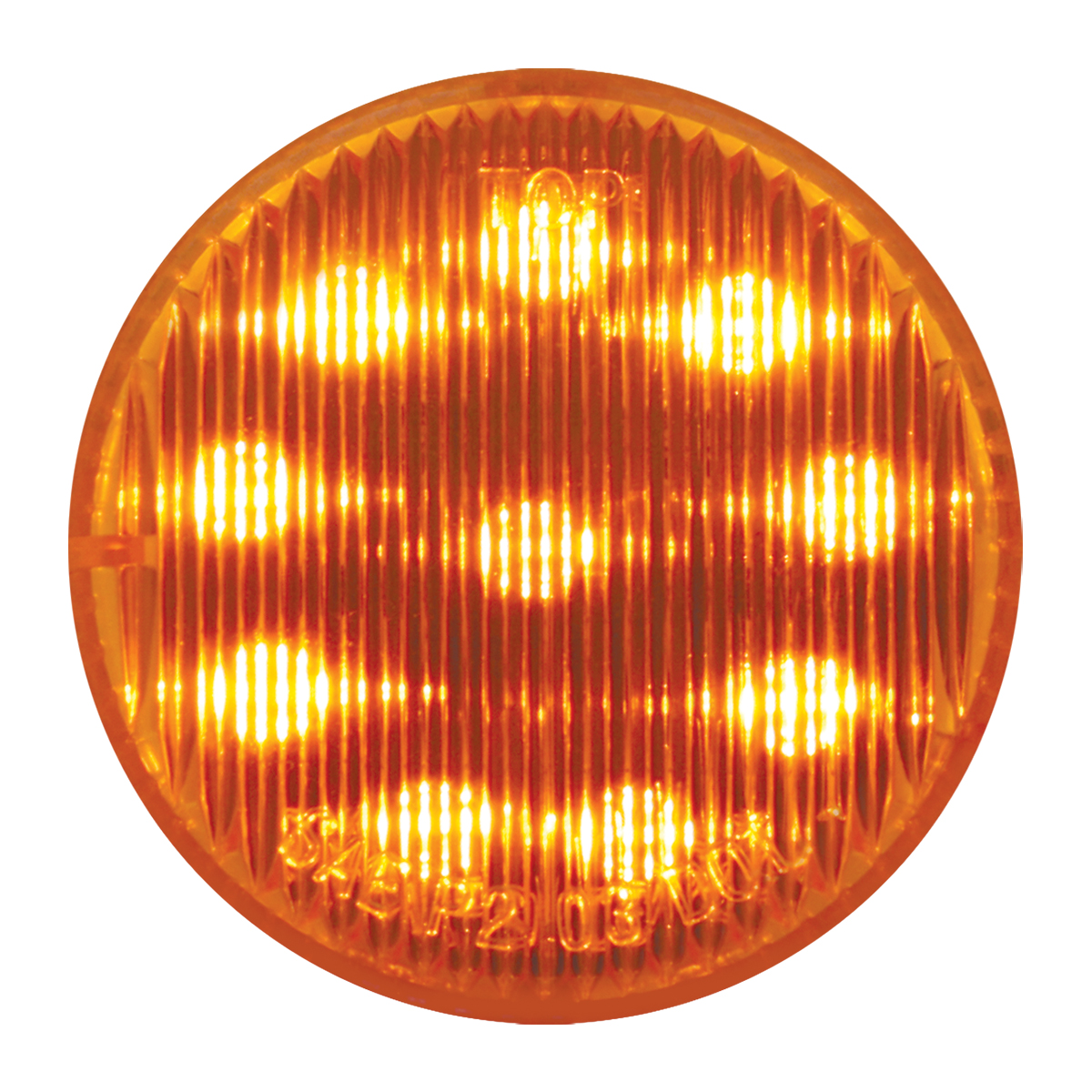 "#79280 2"" Round LED Flat Amber/Amber Light"