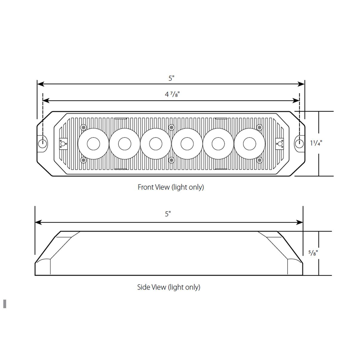 """5"""" Medium Rectangular High Power LED Strobe Light"""