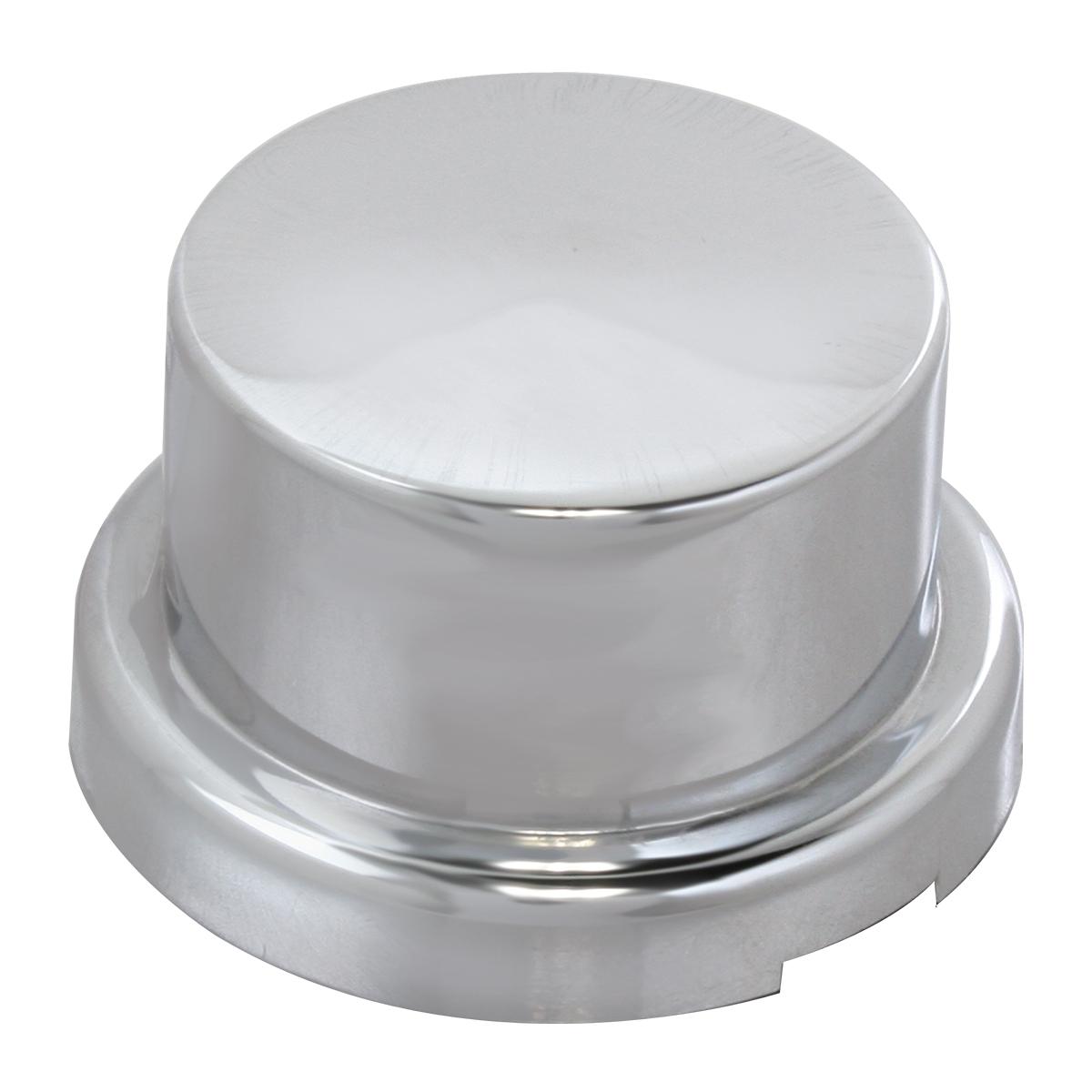 10064 Chrome Plastic Push-On Flat Style Round Lug Nut Cover