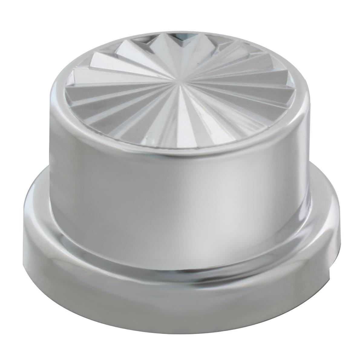 10065 Chrome Plastic Push-On Pinwheel Style Round Lug Nut Cover